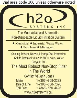 H2O Systems Inc - Water Treatment Equipment, Service & Supplies Digital Ad