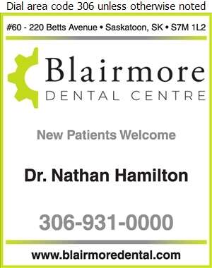 Blairmore Dental Centre - Dentists Digital Ad