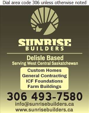 Sunrise Builders Inc - Builders & Contractors Digital Ad