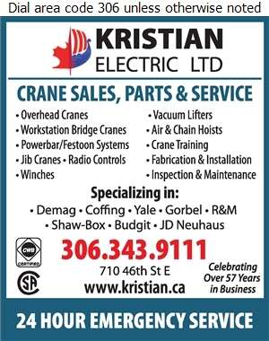 Kristian Electric Ltd - Cranes Digital Ad