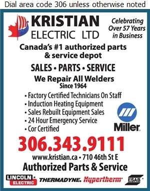 Kristian Electric Ltd - Welding Equipment Repairing Digital Ad