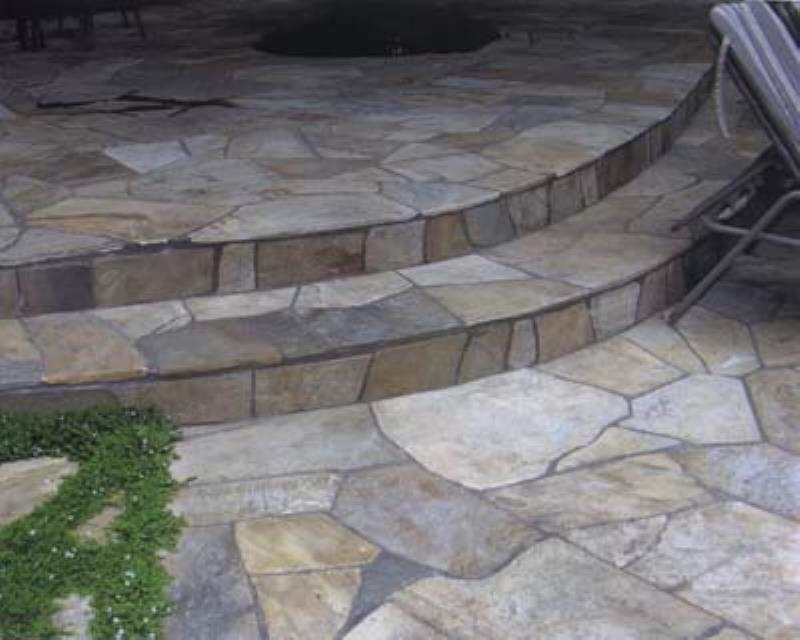 Deptuck's Landscaping - stone patio steps