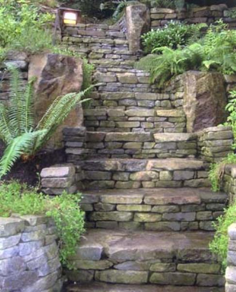 Deptuck's Landscaping - stone stairs