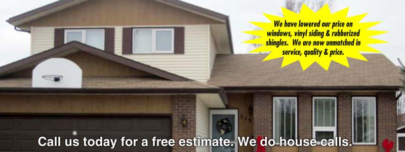 Roofing, Shingles,Windows, Doors, Siding, Fascia, Soffits, Hot Tubs, Sunrooms, Screenrooms, Solarium