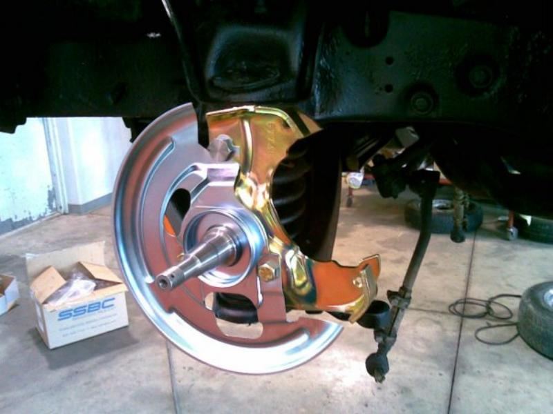 Disc Brake Conversion installation photo.