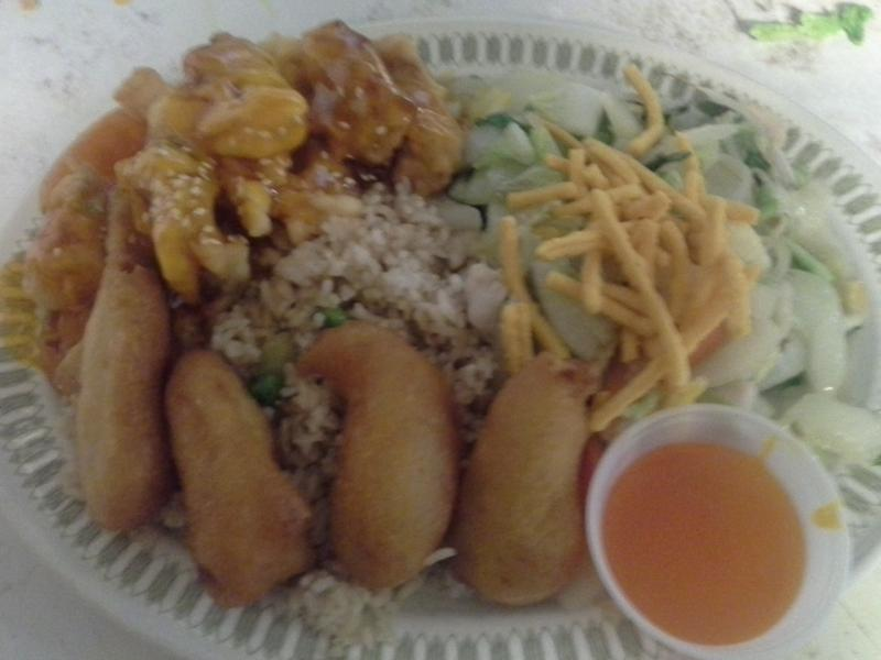Uptown Cafe - Combo 5 (Chicken Fried Rice, Chicken Chow Mein, Sweet and Sour Ribs, Deep Fried Shrimp