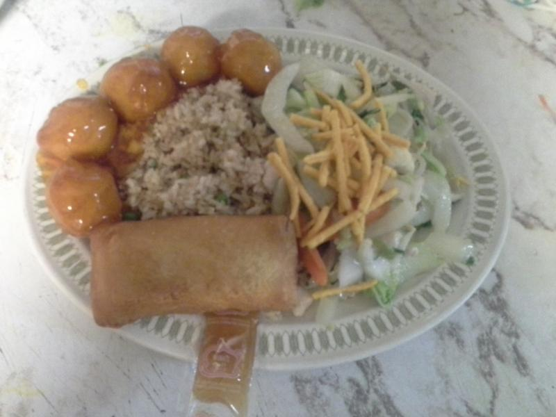 Uptown Cafe - Combo 4 (Chicken Fried Rice, Chicken Chow Mein, Sweet and Sour Chicken Balls, Egg Roll