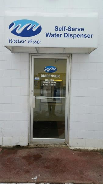 A & R Water Wise Ltd Dispenser Outside