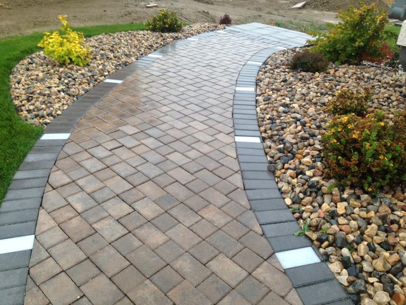 Cindercrete cobble path