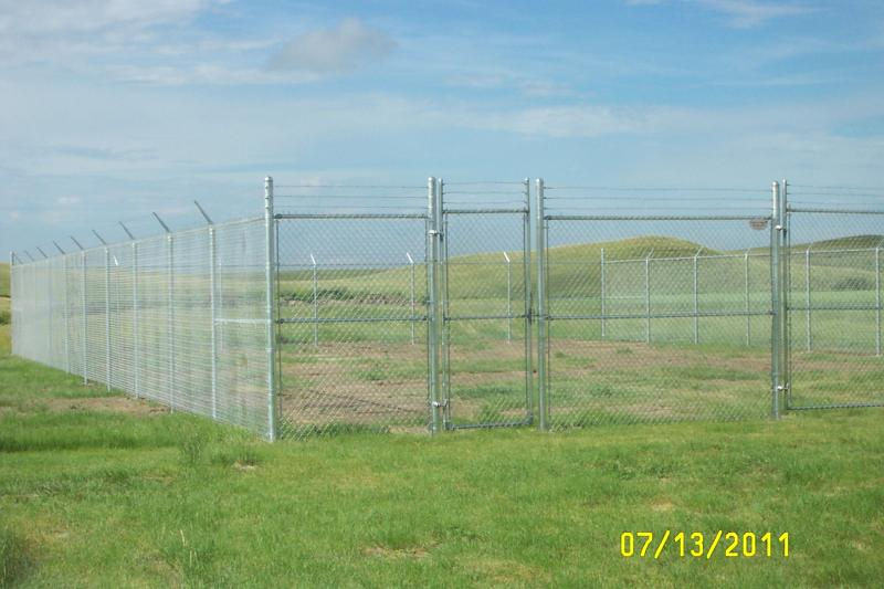 Chain link compound fencing