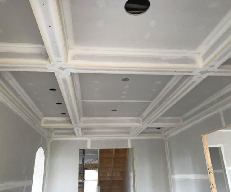 Kelturn Drywall coffered ceiling.