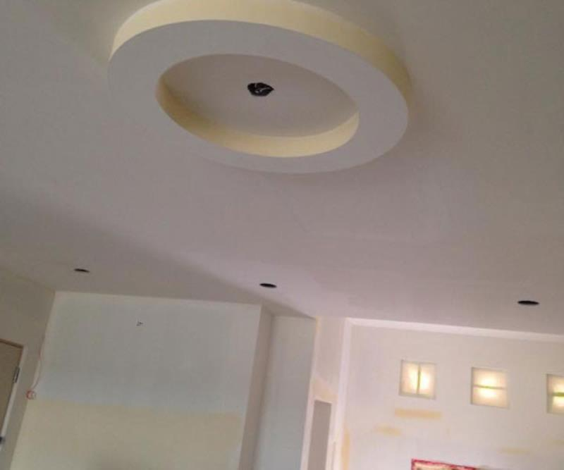 Kelturn Drywall Ltd round ceiling feature.