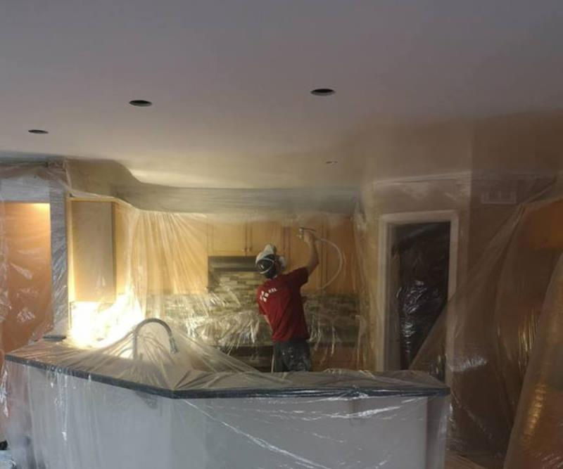 Kelturn Drywall Ltd replacing popcorn ceiling.