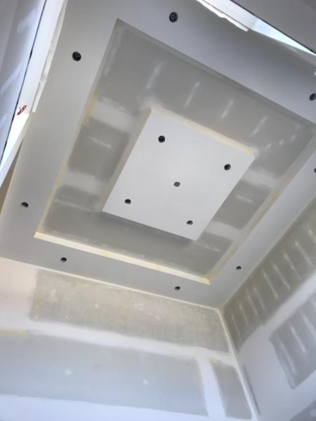Kelturn Drywall Ltd square ceiling feature.