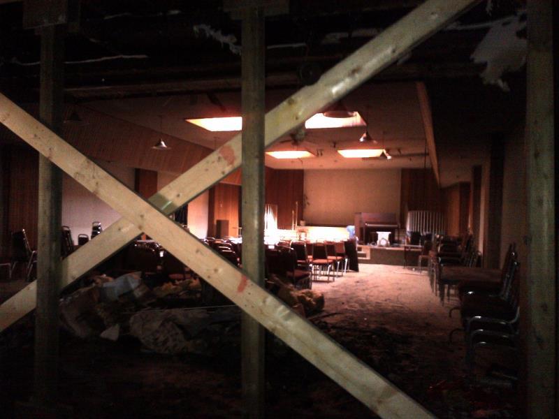 Damage at Faith Baptist Church