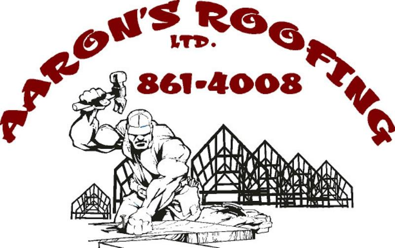 Aaron's Roofing Business Logo