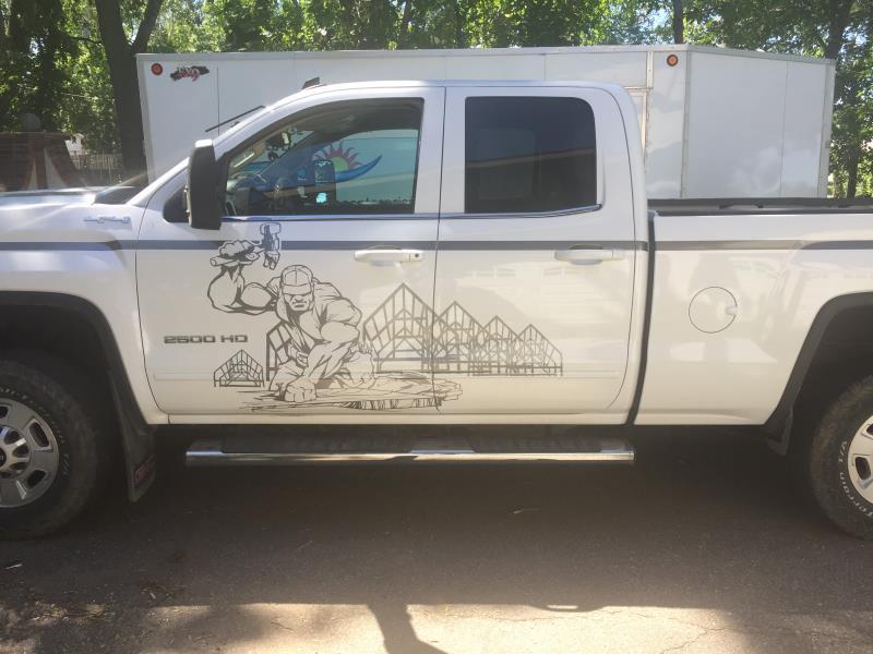 Aaron's Roofing Work Truck