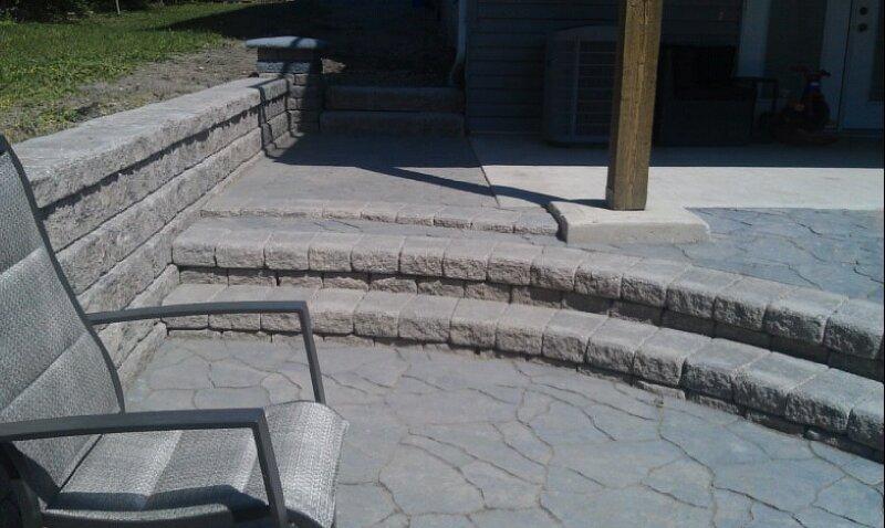 Swift Current patio stone work, stone steps, renovations, concrete slabs, concrete work