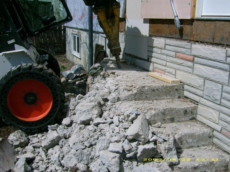 Demolition of Steps