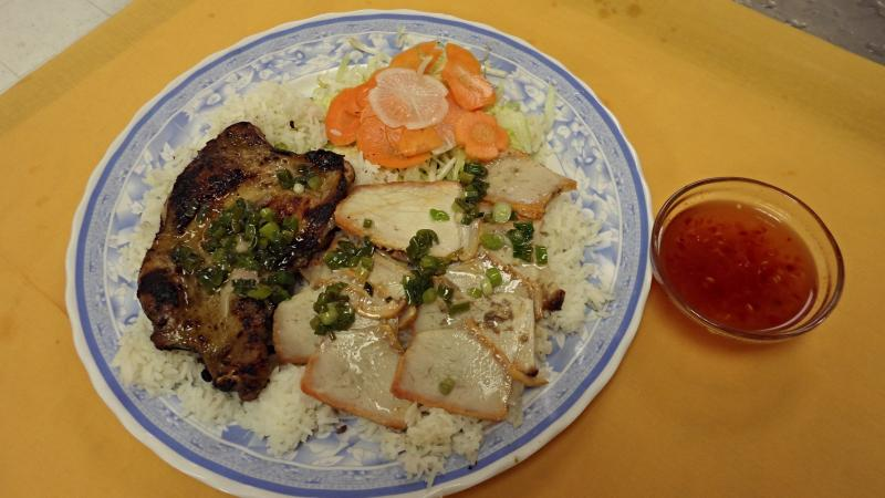 Viet Trung Garden Broiled Chicken with BBQ Pork