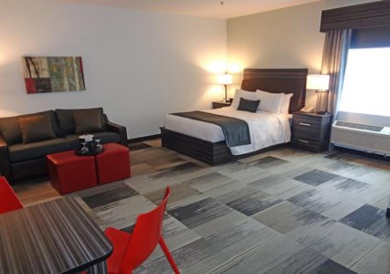 MainStay Suites Aerogreen Saskatoon spacious living room