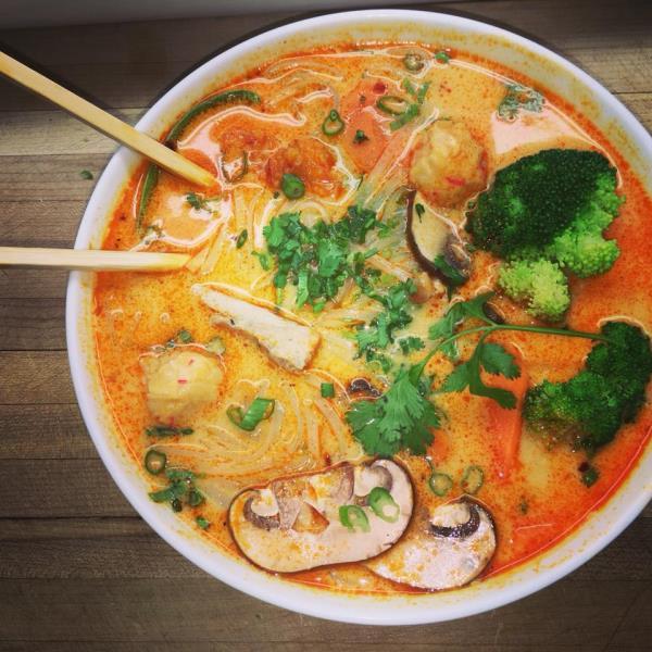 Tom Yum Noodle Soup. Milu East End Regina