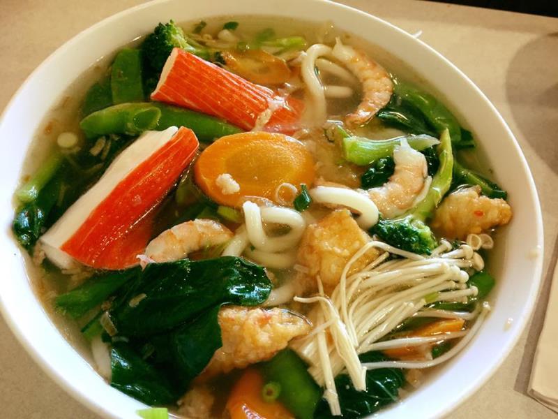 Seafood Noodle Soup. Milu East End Regina